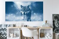 3D Schnee Wolf M81 Tier Wandaufkleber Wandtattoo Tapeten Wandbild Angelia