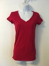 NEW WOMENS AEROPOSTALE T SHIRT V NECK SOLID PINK SIZE M