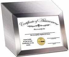 CreativePF [8.5x11ss] Stainless Steel Document Frame Displays 8.5 by 11-inch Cer