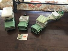 VINTAGE MINT GREEN TONKA JEEP SURREY RUNABOUT BOAT TRAILER  CAMPER VACATION
