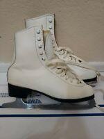 Lake Placid Ice Figure Skates White Women's Size 7