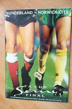 1992 FA Cup Semi Final- SUNDERLAND v NORWICH CITY, 5th April