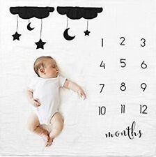 Milestone Number Cloud Pattern Mat Newborn Baby Photography BACKDROP