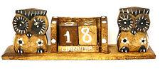 Calendrier Perpétuel Bois Cubes Wooden Perpetual Calendar hibou chouette owl