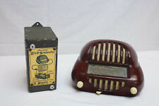 "Vintage Rare Sonora Radio ""Sonorette 50"" Walnut Bakelite with Battery Adapter"