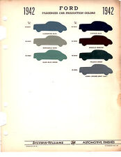 1942 FORD & MERCURY 42 COLORS PAINT CHIPS 42 SHERWIN WILLIAMS
