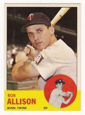 BOB ALLISON 1963 Topps Baseball  # 75 Minnesota Twins Ex Plus - NM