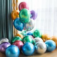 """20 x 10"""" CHROME BALLOONS METALLIC LATEX PEARL Helium Baloon Birthday Baby Shower"""