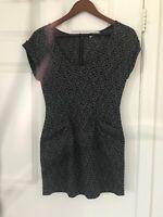 Cash Woman Leopard gray pattern Dress Size S
