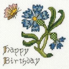 Feliz Cumpleaños Amarillo Rosas-cualquier edad-cross stitch tarjeta Kit-puede personalizar