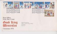 GB ROYAL MAIL FDC 1973 CHRISTMAS STAMP SET BETHLEHEM PMK