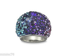 NWT Authentic Swarovski Chic Purple Blue Ring Style 1110432 size  7 US / 55 EUR