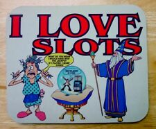 CUSTOM I LOVE SLOTS MACHINE Computer Cpu MOUSE PAD, FUNNY WIZARD Tablets net