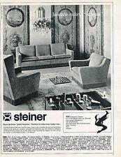 PUBLICITE ADVERTISING  1965   STEINER   meubles  fauteuils salons sièges