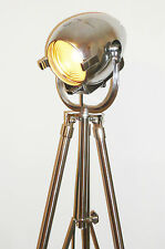 VINTAGE THEATRE LIGHT ART DECO FILM INDUSTRIAL LAMP OLD STAGE STRAND 123 TRIPOD