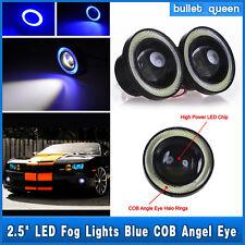 LED Projector Fog Light w/ Blue COB Halo Angel Eye Rings For Nissan High Power