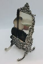 Tiffany & Co. Antique Sterling Silver Repousse Card Holder Stand