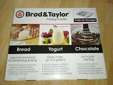 New ListingBrod And Taylor Folding Proofer Bread Yogurt Chocolate Fp-101