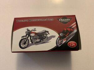 ATLAS EDITIONS 1:24 CLASSIC MOTORBIKES TRIUMPH BONNEVILLE T120 Boxed