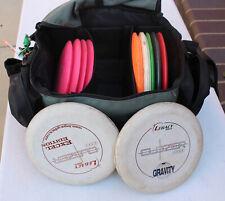 15 Disc Golf Discs w/ Innova Bag DGA Strap Puck Legacy Mongoose Outlaw Small Axe