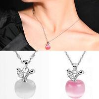 Schlüsselbein Halskette Girl cute Apfel Anhänger Kette Weihnachten Schmuck^~^