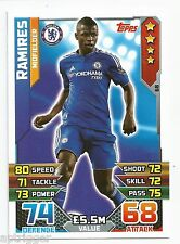 2015 / 2016 EPL Match Attax Base Card (68) Ramires Chelsea