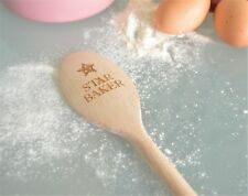 Star Baker Personalised Engraved Wooden Spoon Top Chef Baking Queen Present Gift