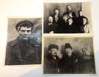 Lot 3 pcs Historical photo chronicle Vladimir Lenin Moscow Kremlin Russia