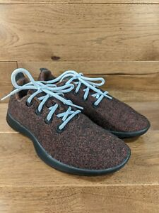 ALLBIRDS 'The Wool Runners' Womens Red Black Athletic Sneakers Shoes SIZE 9