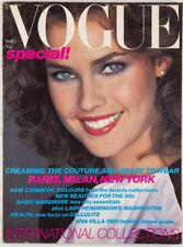 Charles Jourdan GUY BOURDIN Iman GIA CARANGI Catherine Oxenberg ~ Vogue magazine