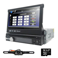 "Single 1Din Car DVD Player 7""In-Dash Touch Screen Radio GPS Nav BT+Backup Camera"