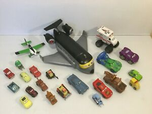 Lot of 22 Disney Pixar CARS Die Cast & Plastic Character Vehicle Toys Plane