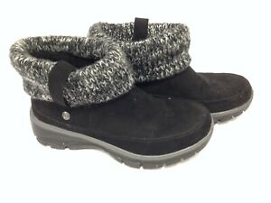 Skechers Relaxed Fit Black Ladies Boot #55100