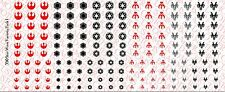 1/18 Scale Tattoos: Star Wars Variety Set - 6 designs - Waterslide Decals