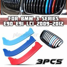 3pcs Car M Color Kidney Grille Stripe Cover Clip For BMW 3 Series E90 E91