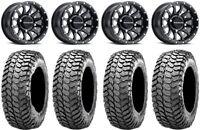"Raceline Trophy 14"" Black Wheels 30"" Liberty Tires Can-Am Defender"