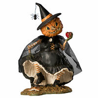 Bethany Lowe Playing Magic Jack Lantern Pumpkin Witch Retro Vntg Halloween Decor