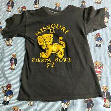 VTG 70's Russell Mizzou Missouri T-Shirt MED Fiesta Bowl 1972 Black Graphic USA
