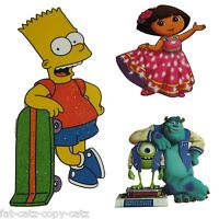 DORA EXPLORER BART SIMPSON MONSTERS INC IRON ON HEAT TRANSFER PATCH CLOTHES BAGS
