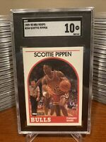 1989 NBA Hoops Scottie Pippen SGC 10 GEM Mint #244 Bulls 2nd Year