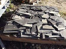 Slate random Black 1 pallet small black slate chips.