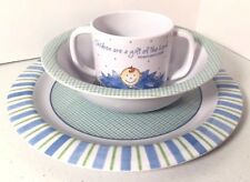 Dayspring Childrens Dish Set Bowl Plate Cup Religious Bible Verse Psalm Kids
