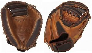 New Louisville Slugger Omaho Pro Catchers Mitt 32.5 RHT Brown