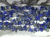 Wholesale 4MM Natural Lapis Lazuli Gemstone Chips Spacer Loose Beads About 260PC