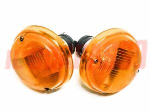 Lights Front Indicators Orange Fiat 124 Coupe - 850 Coupe 1 Series Original