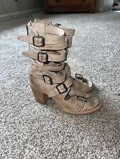 Freebird Steve Madden Open Tow heeled bootie Sandals 10 Worn Once!
