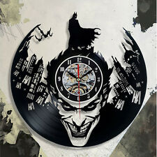 "Joker Batman Wall Clock 3D Creative Art Design Vinyl Home Room Decor Black 12"""