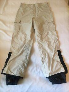 Columbia Men's Large Beige Ski~Hiking~Snow Nylon Pants Cargo Pockets