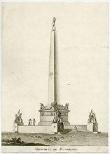 Rare Antique Print-WATERLOO-MEMORIAL-DESIGN-BELGIUM-Anonymous-c.1815