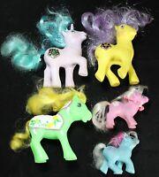 (5) 1985 & 87 My Little Pony G1 Lot - Princess Sparkle & Starburst w/ (1) Fakie